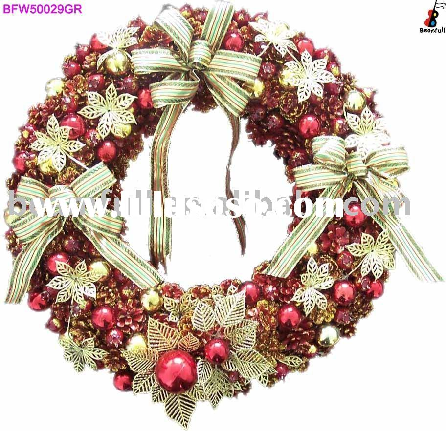 Artificial Christmas Wreath Red Berries Wreath pine cone wreath
