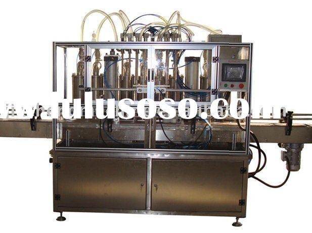 Automatic linear liquid detergent filling machine