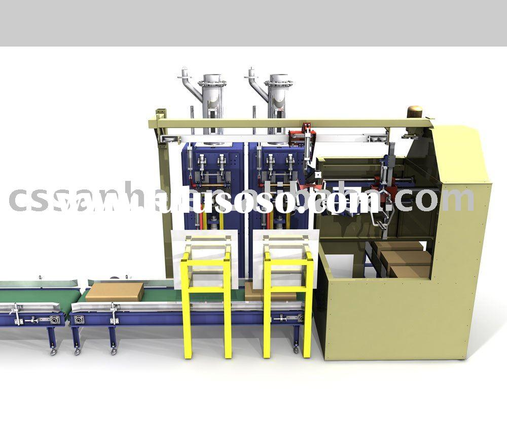 Automatic valve bag packaging,palletizing production line