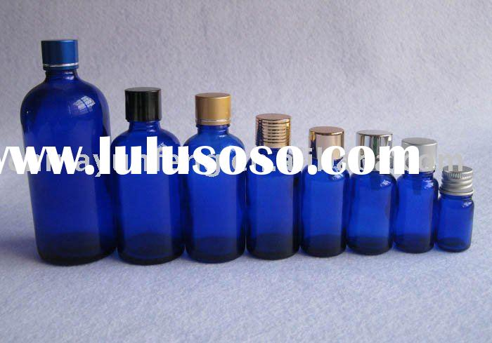 BLUE GLASS ESSENTIAL OIL BOTTLE