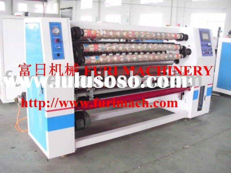 BOPP adhesive tape slitting machine with auto tabbing device