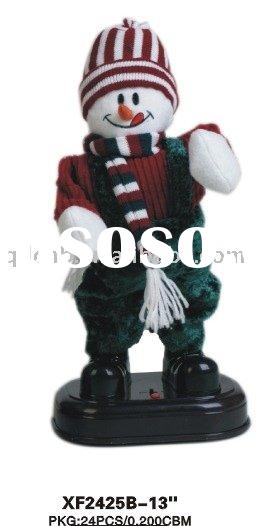 B/O Tapping Feet Dancing Snowman Musical Action Battery Operated Christmas Snow Man Toy