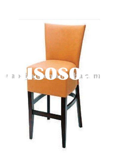 Bar table with bar chair malaysia rubber wood leather hb 402 43337c