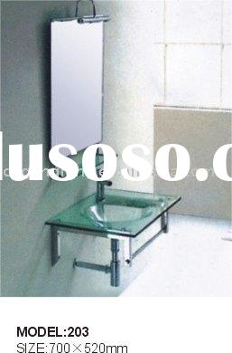 Bathroom Glass vanity/ basin / cabinet ( sanitaryware)