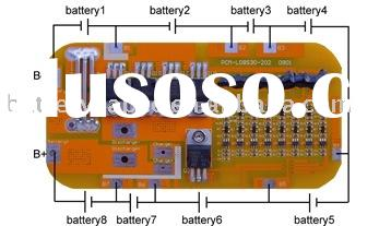 Battery Protection Circuit Board For 25.6V LiFePO4 Battery Pack at 20A limited