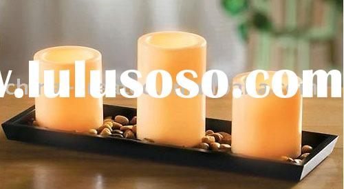 Battery operated LED Candle Tray set