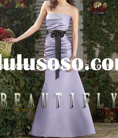 Beautiful New Long Purple Party Bridesmaid Formal Wedding Evening Dress