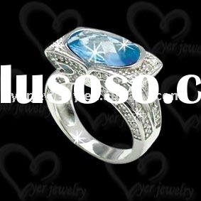 Beautiful fashion wedding 925 sterling silver cz rings jewelry