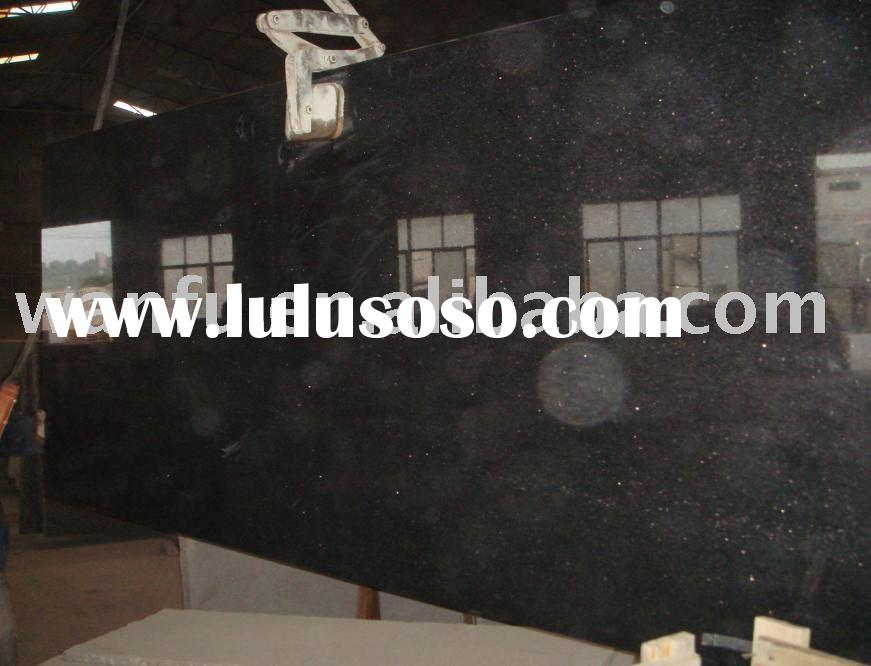 Black Galaxy Granite Countertop Slab