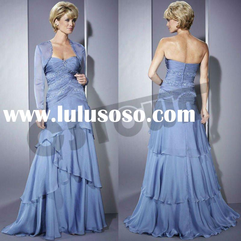 Blue Strapless Wedding Party dress, Perfect as Mother of the Bride dress