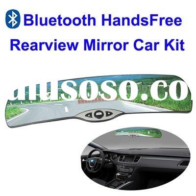 Bluetooth HandsFree Rearview Mirror Car Kit, LED Screen Display
