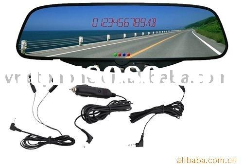 Bluetooth Rearview Mirror +rechargeable battery