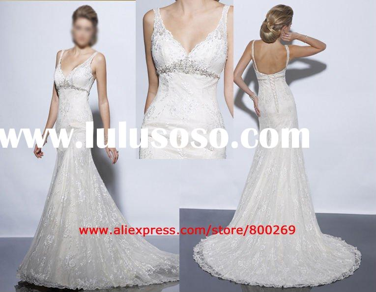 Bridal Wedding dress gown beaded straps sl-822