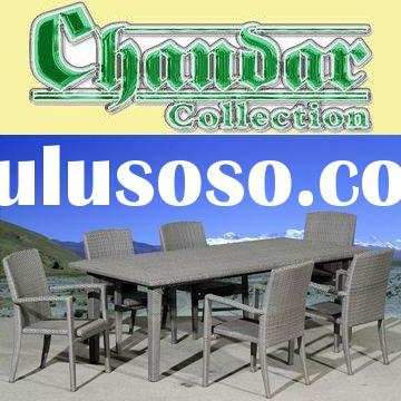 CH-W026 Rattan dining table and chair outdoor furniture