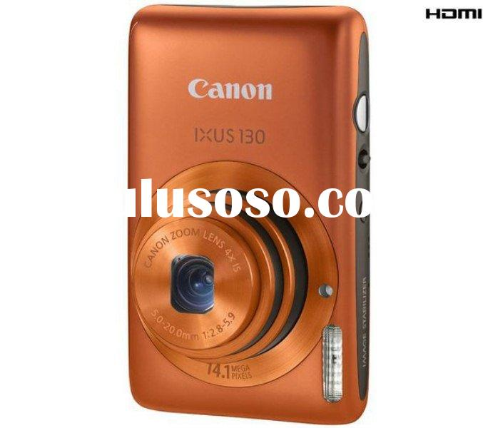 Canon Digital IXUS 130 IS (Orange) Digital Camera