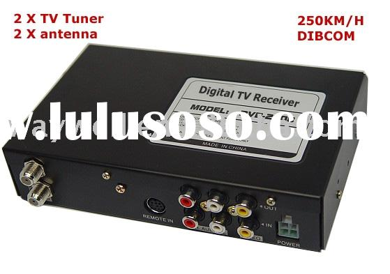 Car DVB-T, Mobile digital TV receiver, DVB-T tuner with 250km speed