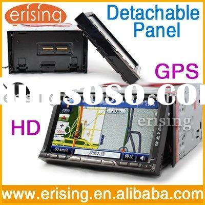 Car Stereo 2 Din GPS Detachable Panel touch screen BT Radio RDS