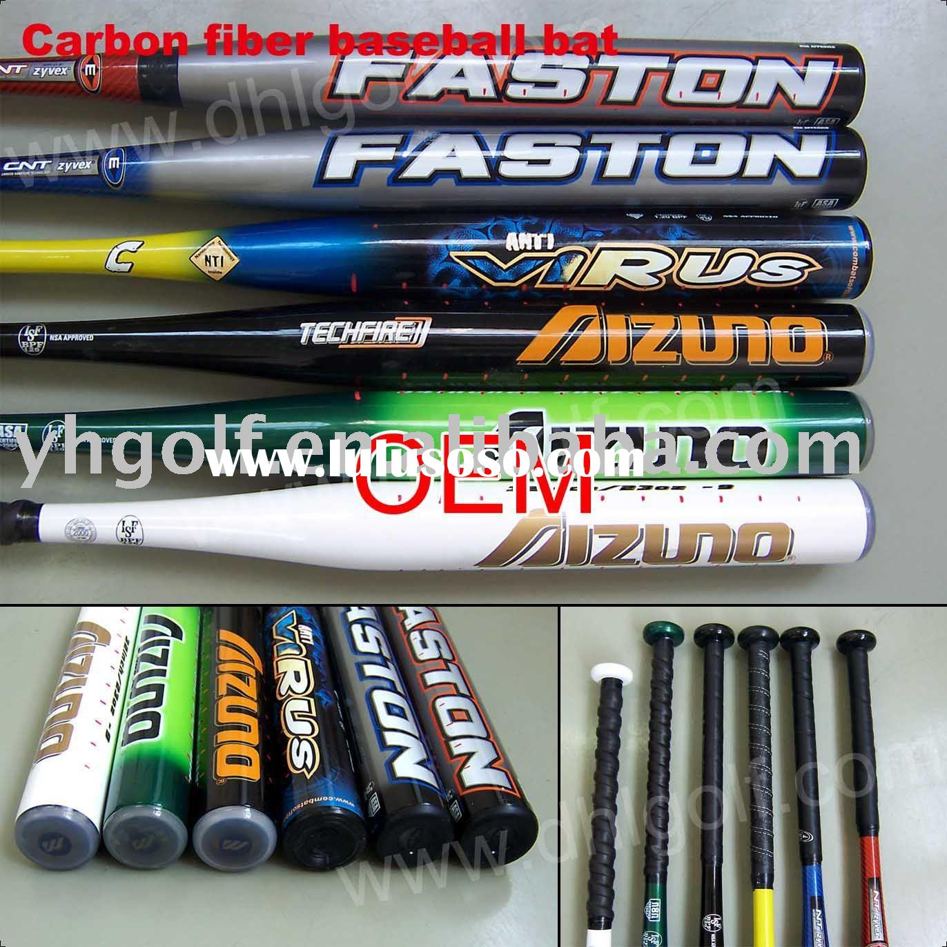 Carbon fiber baseball bat