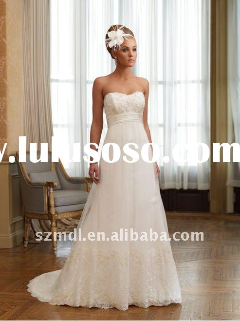 Cheap Casual Empire Wedding dress with Sweetheart Neckline