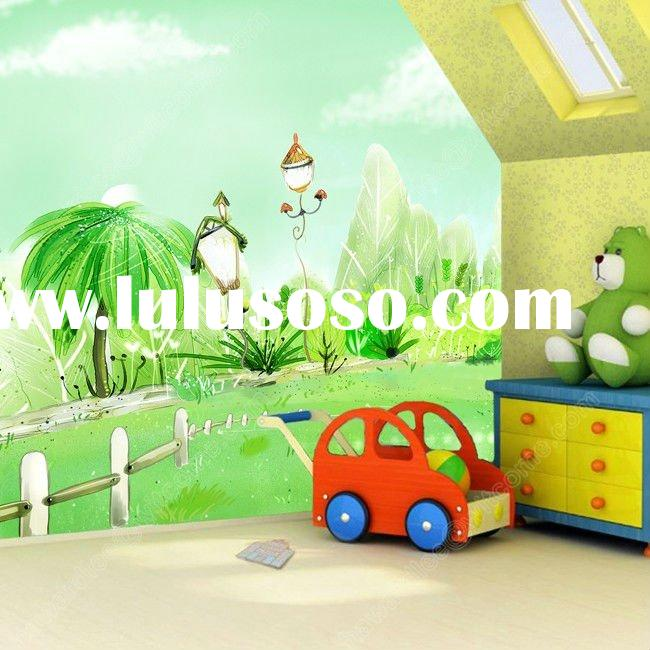 Children living room bedroom trail magic children's room murals wallpaper murals