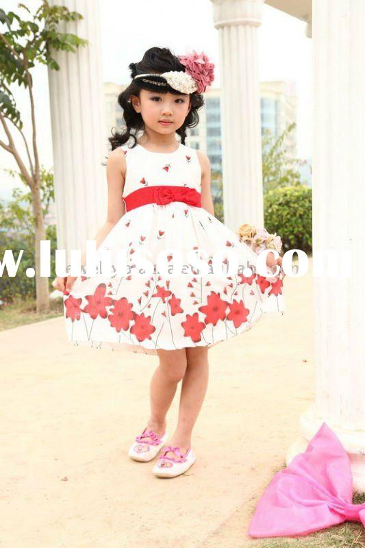 Childrens cotton clothes,2011 newest summer fashion dresses for girls -2132