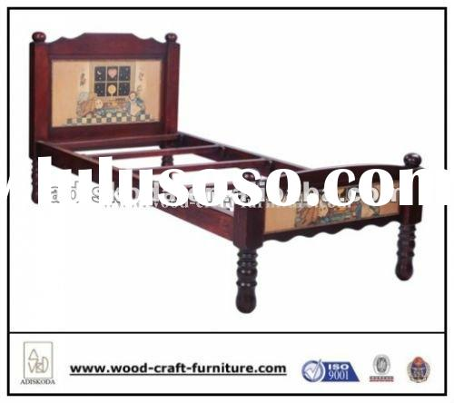 Classic antique wood bed, kids bed wood furniture bedroom furniture 22-224