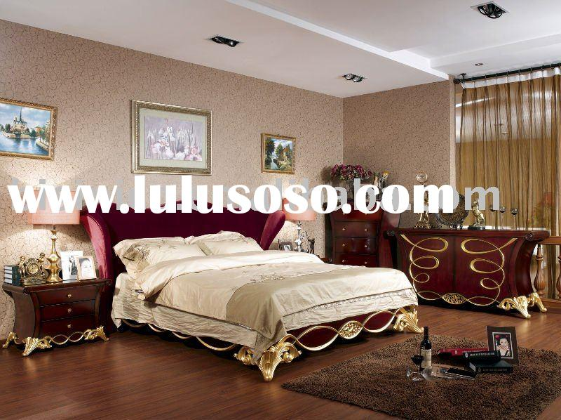 Classical style bedroom set,bed,side table,dresser,drawer chest,bedroom furniture