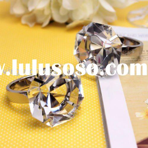 Clear Crystal Diamond Ring Paperweight Wedding Favors