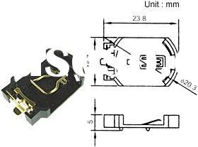 Coin Cell Holder ;Connector ,Battery holders;fuse holder ;