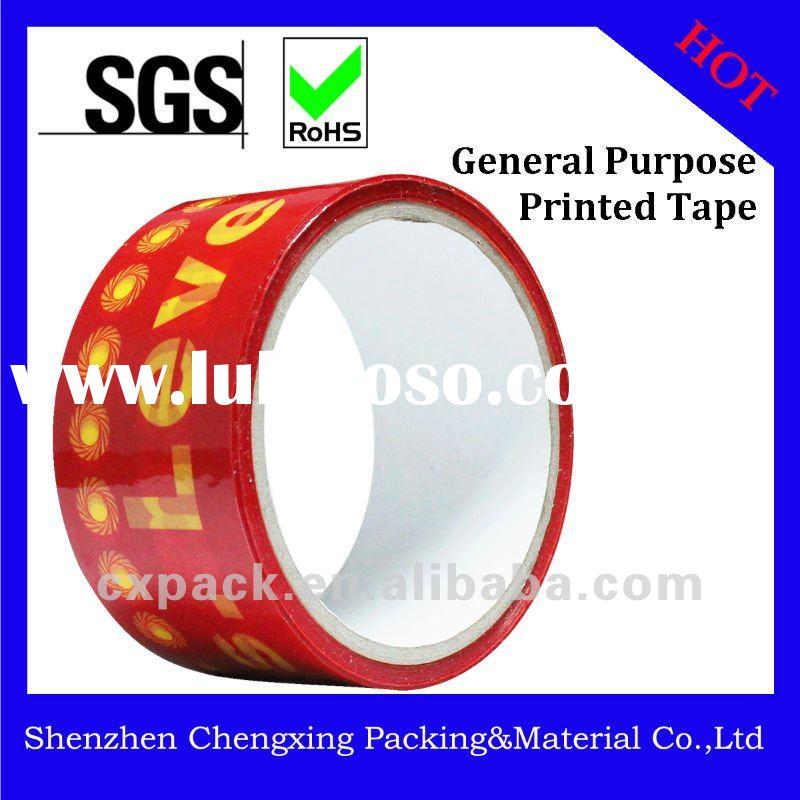 Color or Printed Bopp Packing Tape for Carton Sealing