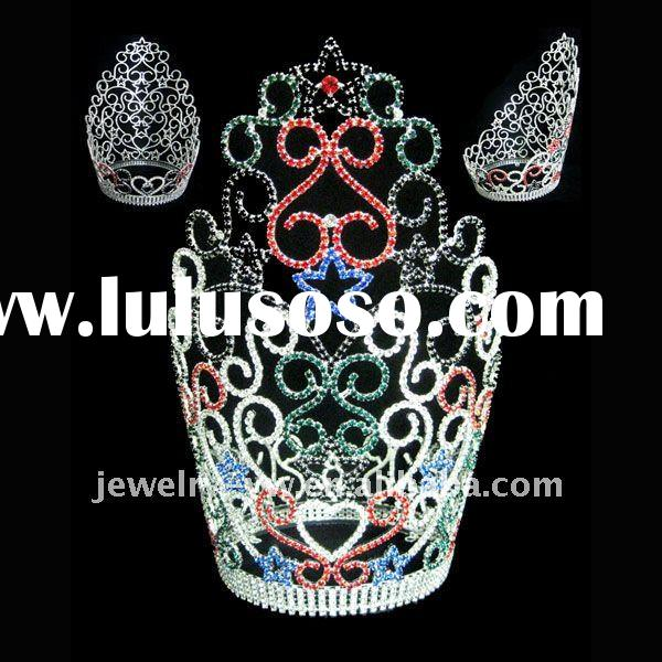 Colorful rhinestone pageant crown,colorful rhinestone pageant tiara