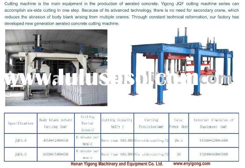 Concrete block making machine-AAC cutter
