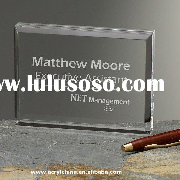 Corporate Custom Logo Acrylic Award Plaque / achievement award / recognition plaque