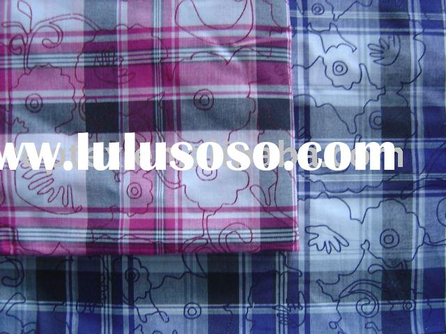 Cotton Yarn Dyed Fabric with over lap printing,printed fabric