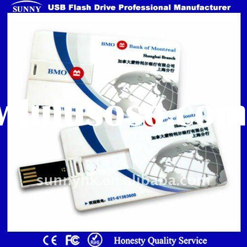 Credit card usb flash drive with full color printing