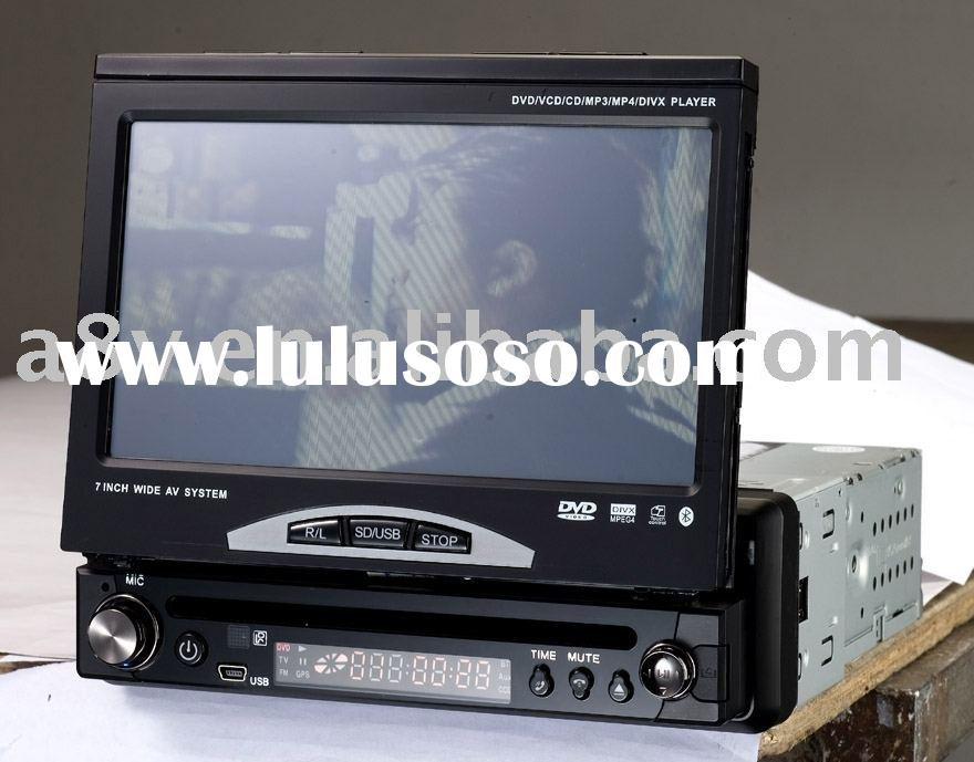 DA-975 car dvd player with 7 inch touch screen,bt,tv,fm radio,usb,sd/mmc/ms card reader,detachable p