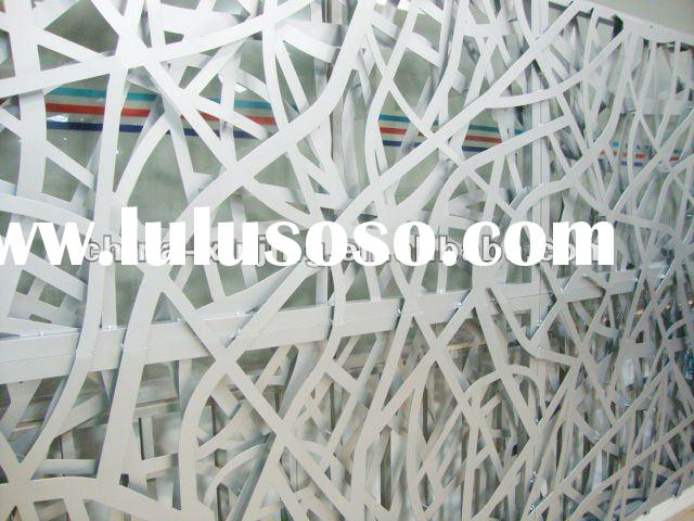 Decorative perforated metal wall panel/artistic aluminum screen decoration (ISO9001,CE)