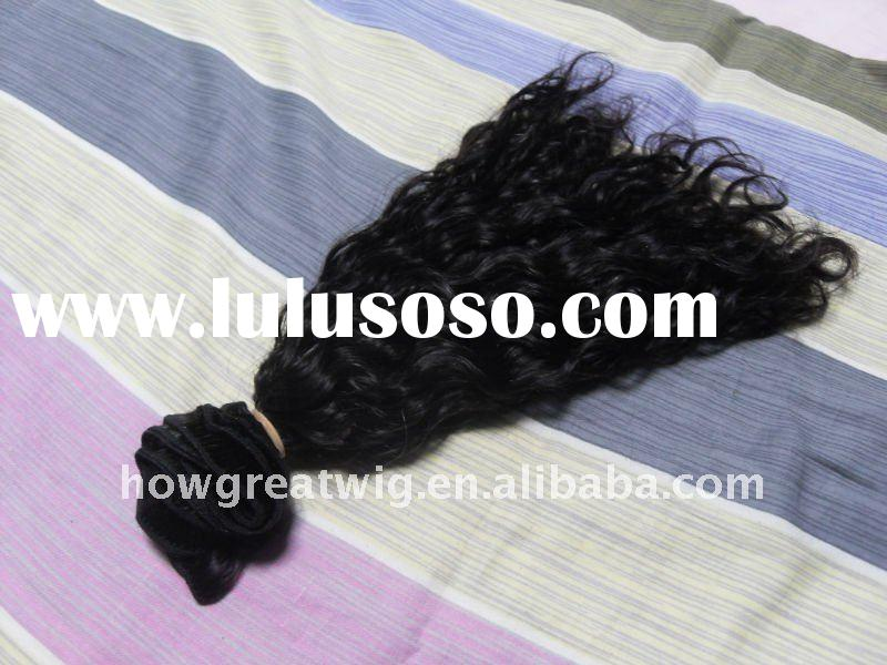 Deep Wave 16 inch indian Hair extenison hair products whole sale human hair weft