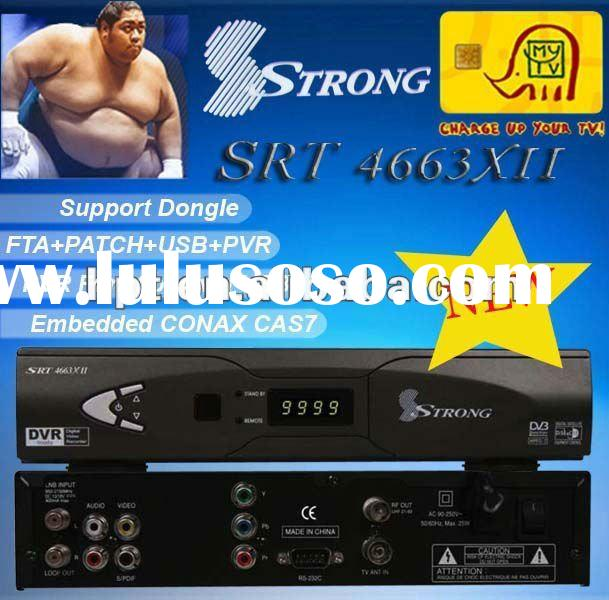 Digital Satellite Receiver Free To Air Strong4663xii tv decoder for Africa Market
