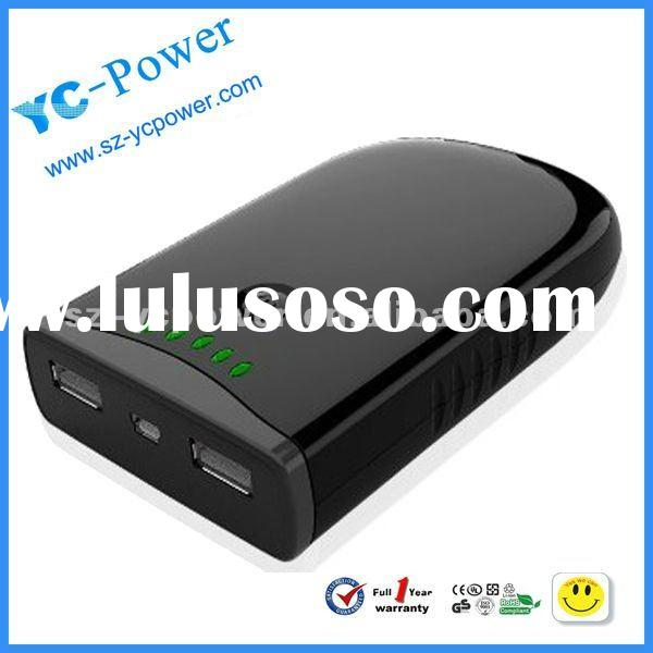 Double Usb Output Li-ion Rechargeable Battery For Mobile Phone, Ipad and iphone