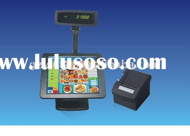 Dual Screen touch screen POS/ Open frame Touch screen monitor/Touch screen PC with cash drawer