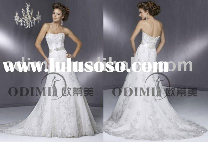 Elegant Backless Designer Wedding Dresses