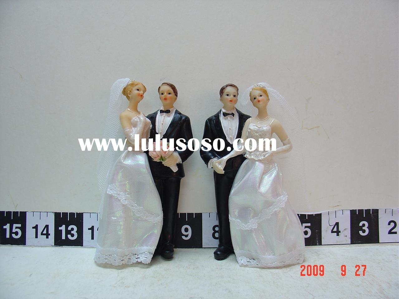 Elegant Wedding Groom and Bride Cake Topper(wedding supply)