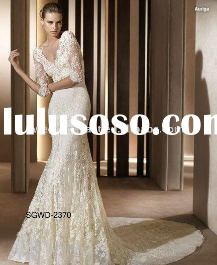 Elegant lace long sleeve Wedding Dress SGWD-2370