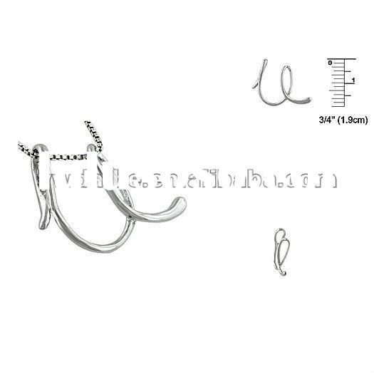 Exquisite beautiful alloy silver plated letter/inital U pendant necklace,fashion silver letter neckl