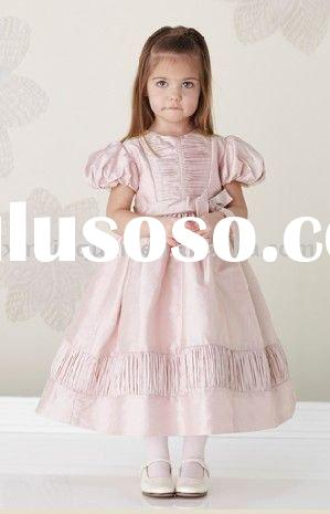 FG196 Free Shipping puff sleeve princess dress flower girl dress