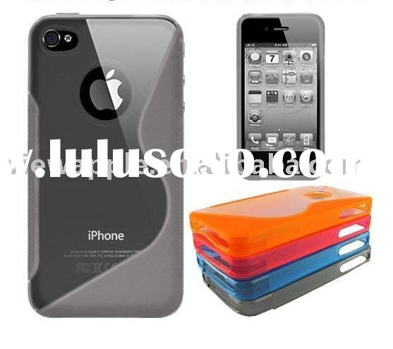 FOR APPLE IPHONE 4 4G NEW BLACK TPU SKIN CASE BUMPER