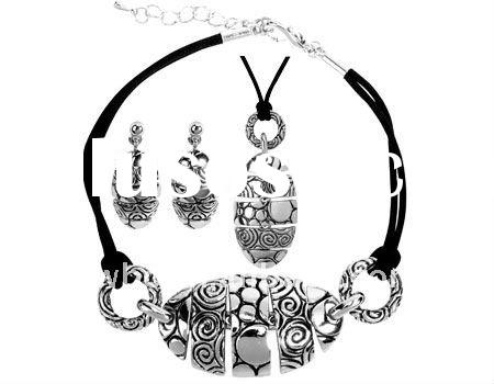 Fashion alloy sophia necklace,earring and bracelet jewelry set(A100129)
