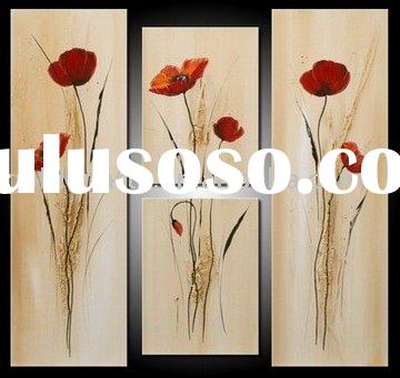 Flower oil painting Wall decoration painting Group oil painting Texture