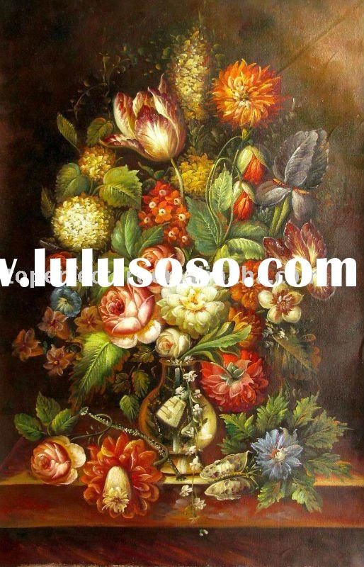 Flower oil painting canvas,CFR017